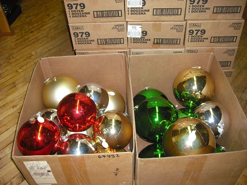 metallic xmas ornaments