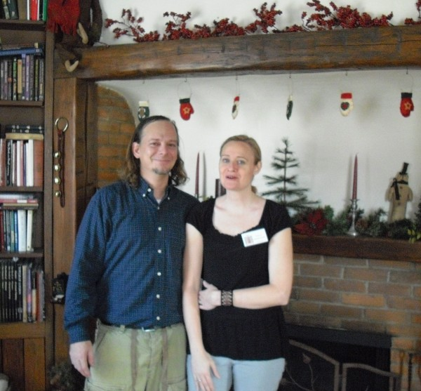 Marc and Tracy Milinkovich filled their home with Christmas decorations popular in the mid-1800's.