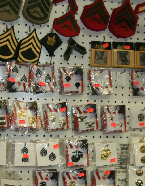 Whitey's offers a wide range of military insignias.