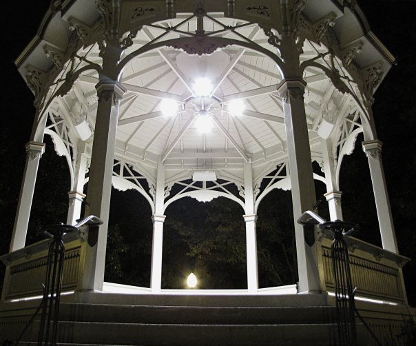 Happy New Year, Medina. The Gazebo, Photography by Jeffery Heaton, Medina High School, Class of 1995.