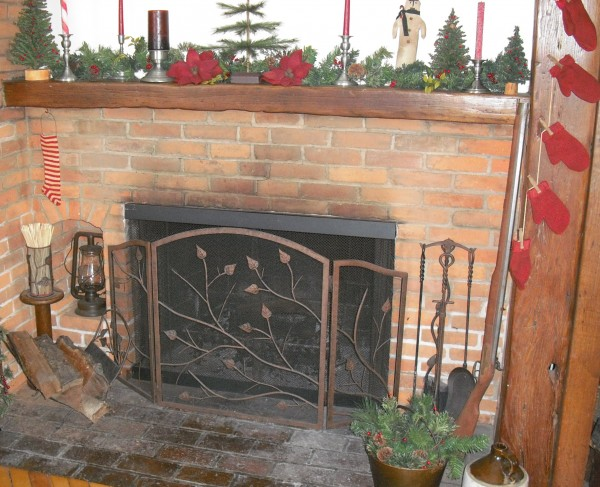 Slaves were once hidden behind this ordinary appearing fireplace.