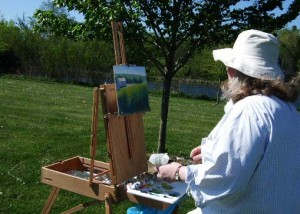 Cindy Allman paints a view